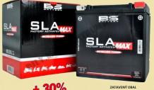 Nové motobaterie BS SLA MAX s 30% navýšením výkonu