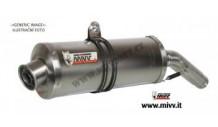 2x Koncovka výfuku XT660R MIVV Oval NEREZ