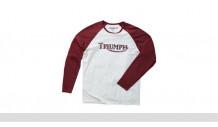 Triko Logo T-shirt White/Burgundy