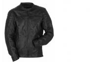 Pánská černá kožená motocyklová bunda Yamaha SOFIA