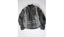 dámská kožená bunda DIABLO vel. 38 černo-šedá